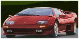 Classic car Lamborghini Diablo red