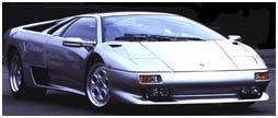 Classic car Lamborghini Diablo blue