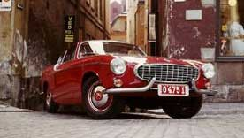 Classic car Volvo P1800 red