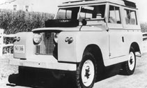 Classic car Rover's famous Land Rover