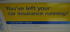 Ad of a car insurance company