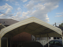 White car canopy