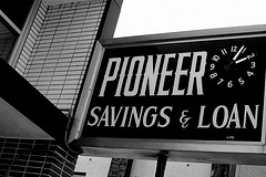 Signage of Pioneer Savings and Loan