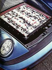 Battery of a porsche car