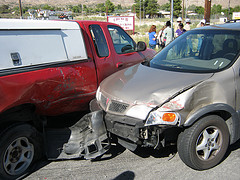 Collision of two cars